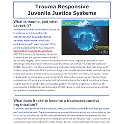 Trauma Responsive Juvenile Justice Systems