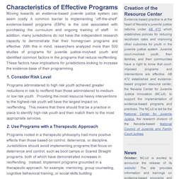 Characteristics of Effective Programs