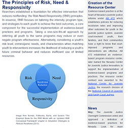 The Principles of Risk, Need & Responsivity